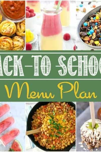Back to School Party Menu Plan
