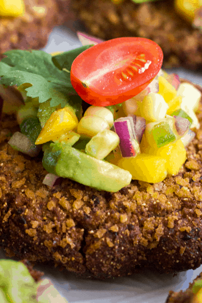 Black Bean Cakes with Corn-Mango Salsa