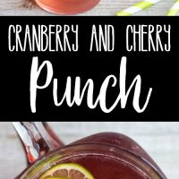 Cranberry & Cherry Punch is easy to make and delicious to drink! This punch a favorite at parties and a great pitcher cocktail option any time of year!