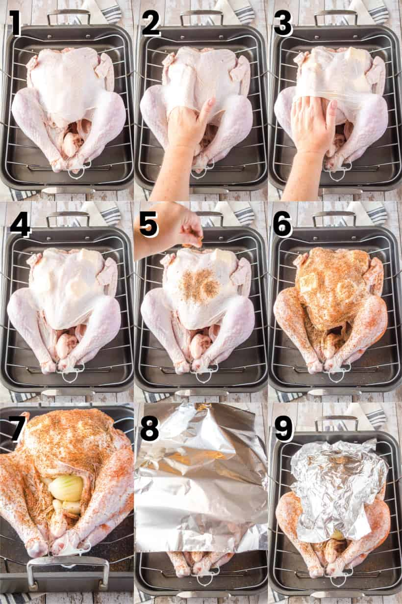 steps to make a Thanksgiving turkey