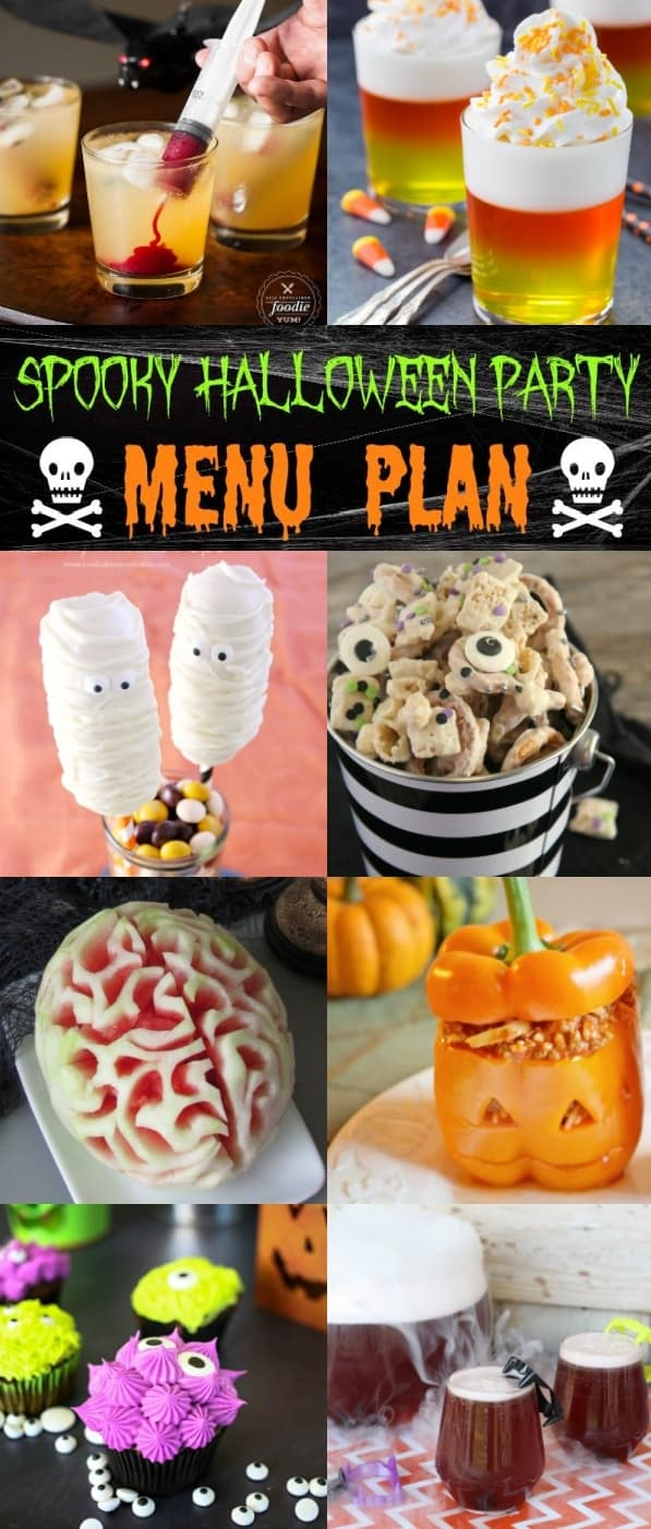 get ready to have the best party on the block with this fun and easy spooky halloween party menu plan