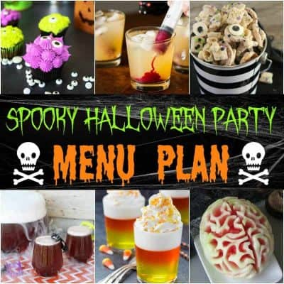 Get ready to have the best party on the block with this fun and easy Spooky Halloween Party Menu Plan!