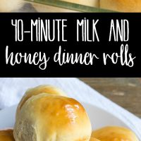 These slightly sweet and oh so fluffy 40-Minute Milk and Honey Dinner Rolls are perfect for weeknights or holiday dinners. So easy to make, they're a must-have recipe for any home cook!