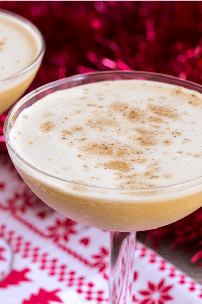 Looking for a seasonal cocktail to top all others? This creamy Bourbon Flip is a lighter take on eggnog perfect for your holiday party!