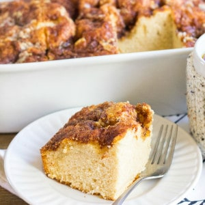 My Dad's Brown Sugar & Cinnamon Coffee Cake recipe is the best breakfast treat! It's easy to make, tastes amazing, and perfect for when you have company in town!
