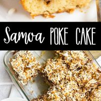 This Girl Scout cookie-inspired Samoa Poke Cake is a decadent dessert that'll have you craving all things chocolate, caramel, and coconut!