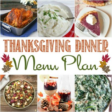 Don't let the holidays get the best of you! This Thanksgiving Dinner Menu Plan is filled with traditional recipes everyone loves!