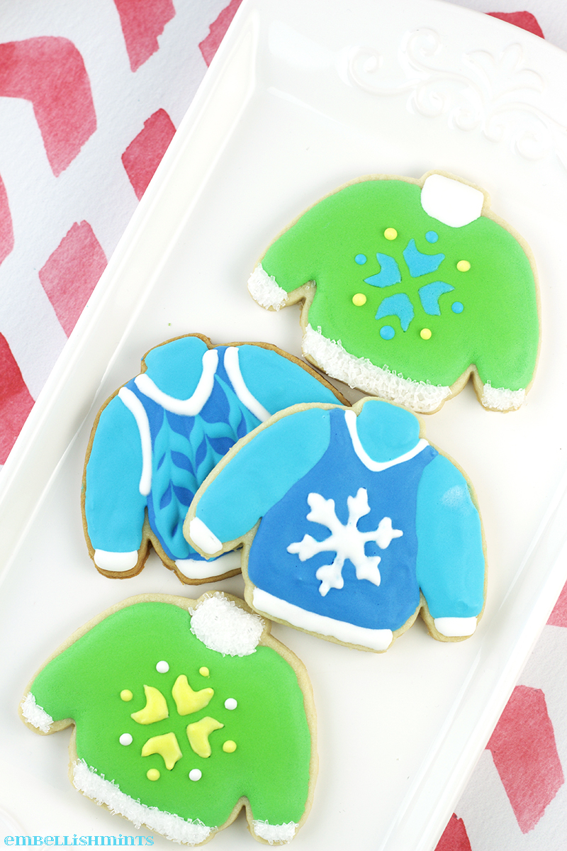 Ugly Christmas Sweaters are super fun to wear, but these Ugly Christmas Sweater Sugar Cookies are even more fun to make and eat!