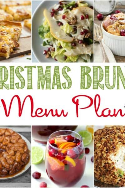 Welcome your holiday guests with a delicious Christmas Brunch Menu Plan! These are a delicious and comforting way to start Christmas with the family!
