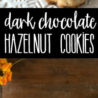 Dark Chocolate Hazelnut Cookies are a family favorite that's easy to make and disappear as soon as they come out of the oven!