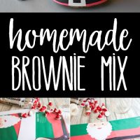 Homemade Brownie Mix is one of my favorite easy Christmas presents for neighbors, co-workers, and white elephant exchanges!