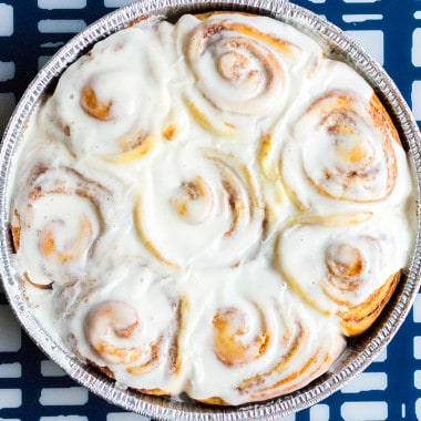 These Homemade Cinnamon Rolls are warm, gooey, and oh so crave-able! Perfect for lazy weekends or a special holiday treat!