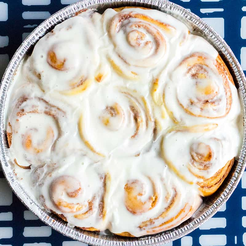 TheseHomemade Cinnamon Rollsare warm, gooey, and oh so crave-able! Perfect for lazy weekends or a special holiday treat!