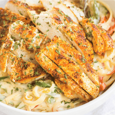 Creamy Chicken Cajun Pasta Recipe is a 30-minute meal with a kick! This easy pasta recipe is great for busy weeknights and has layers of flavor you'll love!