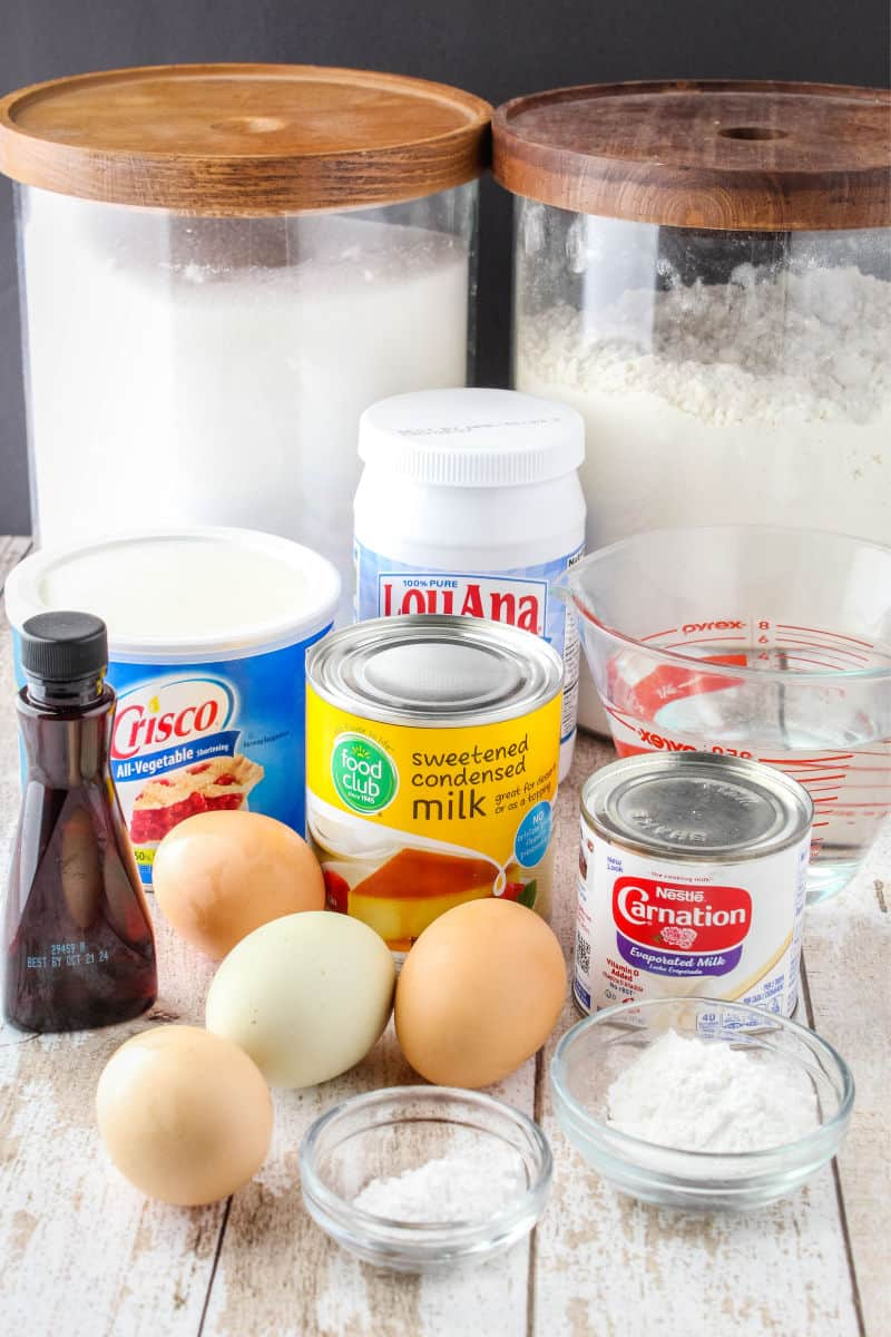 ingredients to make coconut cake