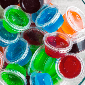 Vodka Jello Shots are a classic party cocktail that's easy to whip up and can be made in any flavor of Jello you love! Be sure to make a bunch, they go fast!