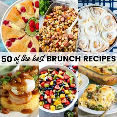 Sleep in and grab your favorite cocktail! Your morning is about to be amazing with 50 of the Best Brunch Recipes for a lazy weekend meal that'll leave you happy and satisfied!