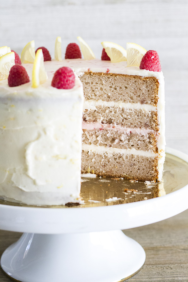 This gorgeous Lemon Raspberry Cake is a dessert lovers dream! Layers of raspberry cake marry with lemon buttercream for an out of this world dessert!