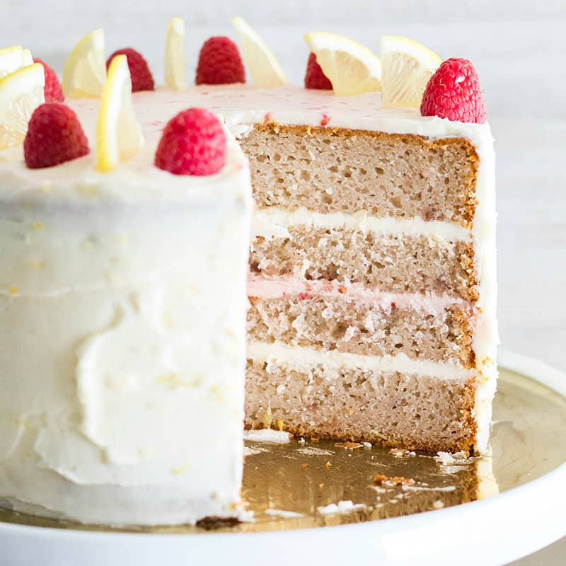 This gorgeous Lemon Raspberry Cakeis a dessert lovers dream! Layers of raspberry cake marry with lemon buttercream for an out of this world dessert!