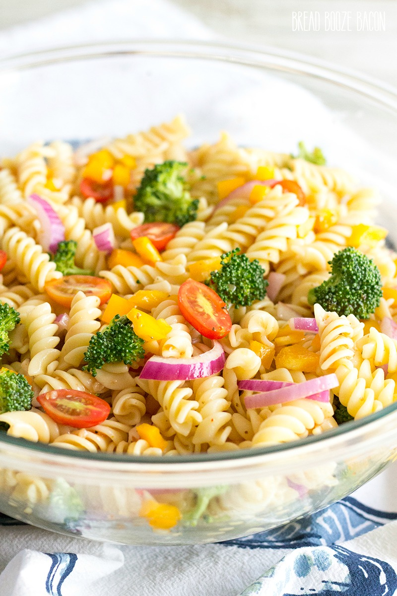 This Vegetable Pasta Salad Recipe is an easy summer side dish you can customize with your favorite veggies!