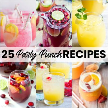 From backyard cookouts to birthday parties and game day, these 25 Party Punch Recipes will help make your next get together a blast!
