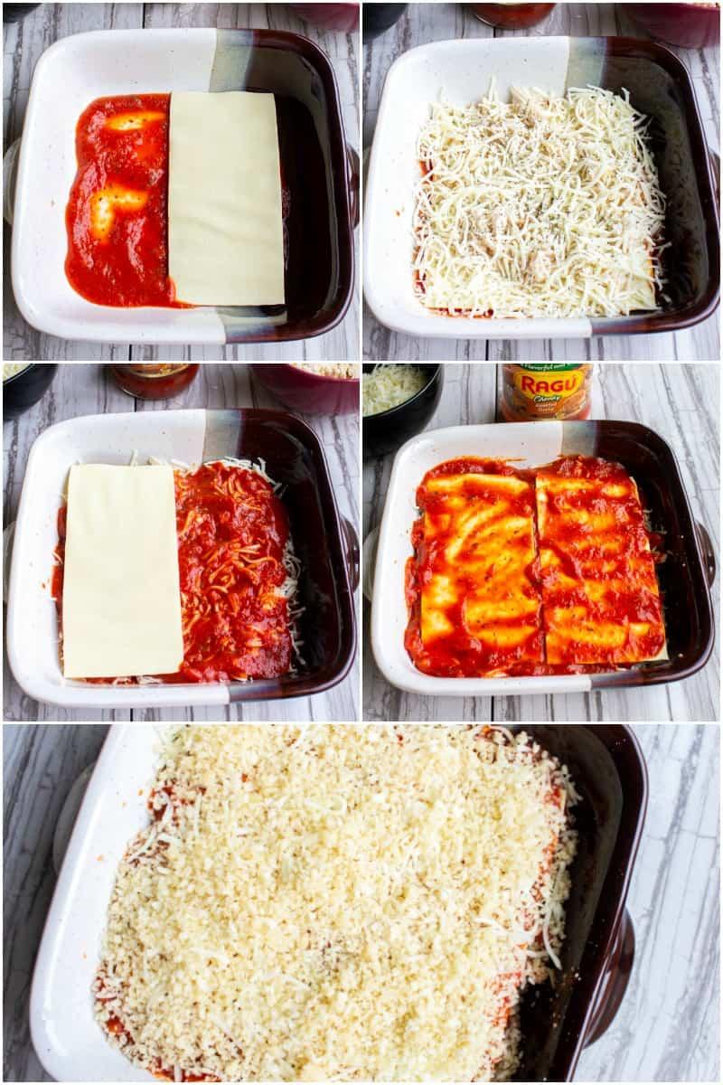 steps to make chicken parmesan lasagna