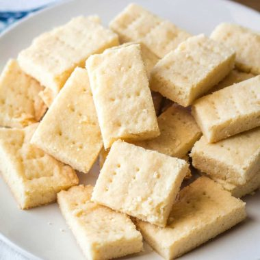 Scottish Shortbread Cookies are melt in your mouth good! Buttery and delicious, these simple cookies are the talk of my cookie plate!