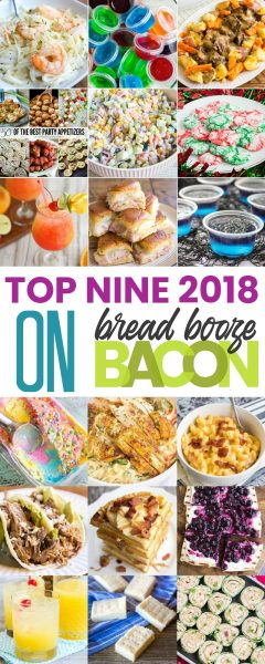 collage of top nine recipes on Bread Booze Bacon for 2018