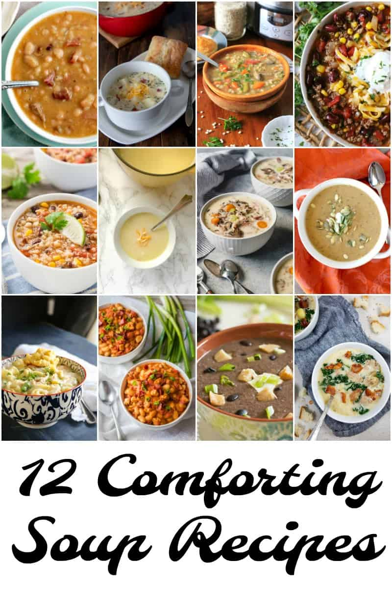 12 comforting soup recipes collage