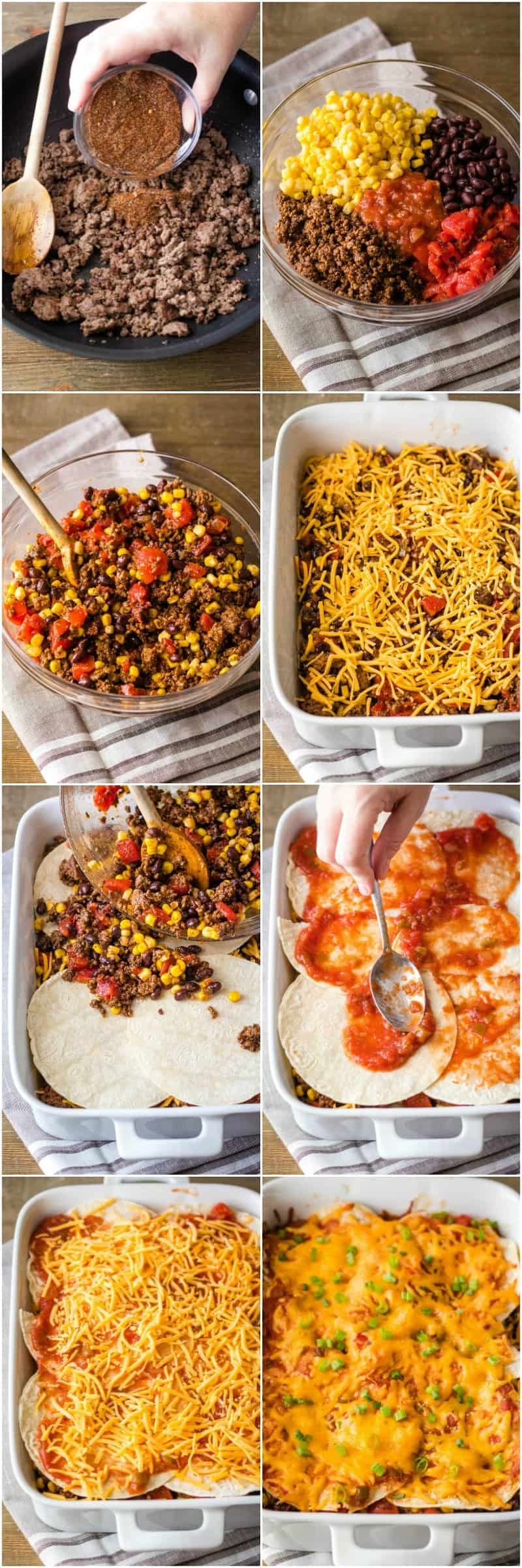 steps to make mexican lasagna recipe