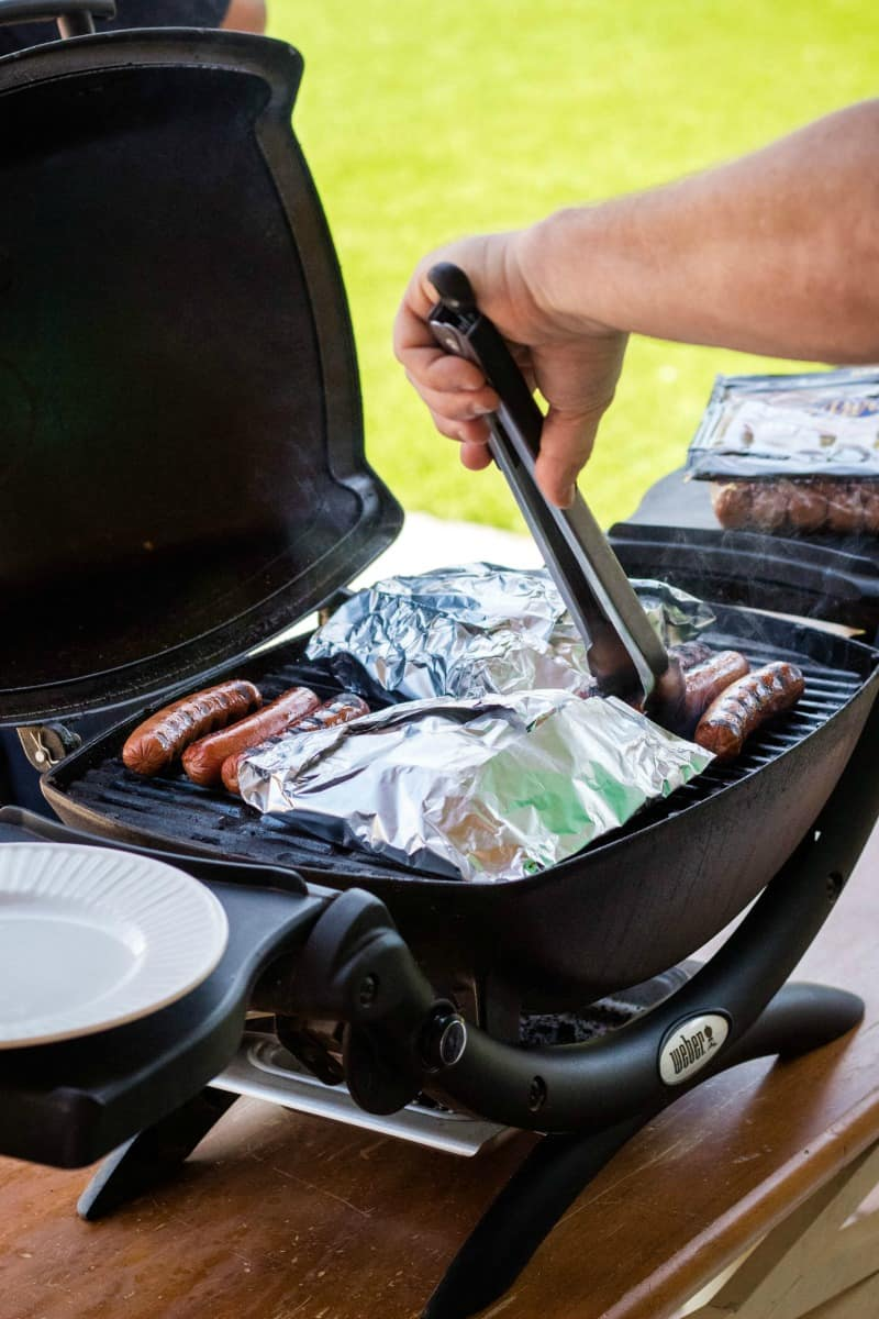 grilling sausage & potato foil packets