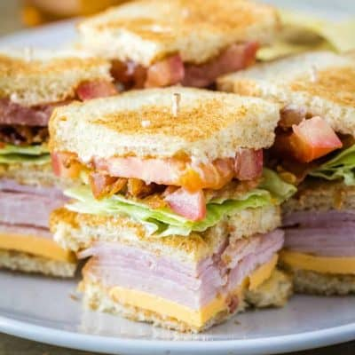 When it comes to lunch, nothing beats a Club Sandwich! This classic combination of meats, cheese, & veggies piled high on bread is a sandwich lover's dream!