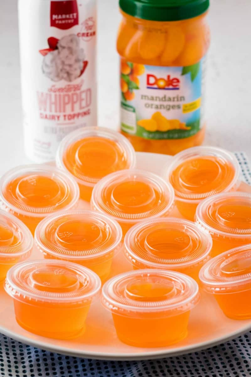 creamsicle orange jello shots with lids