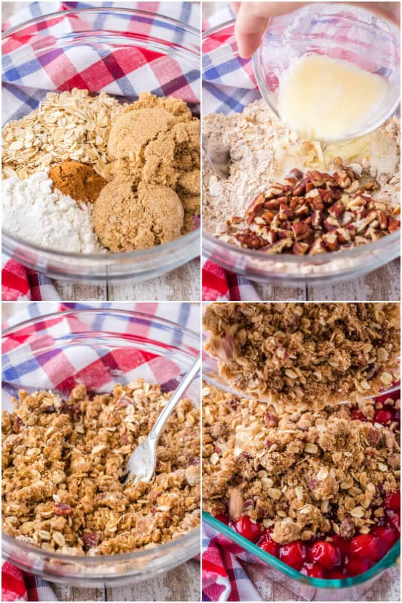 steps to make cherry crisp topping