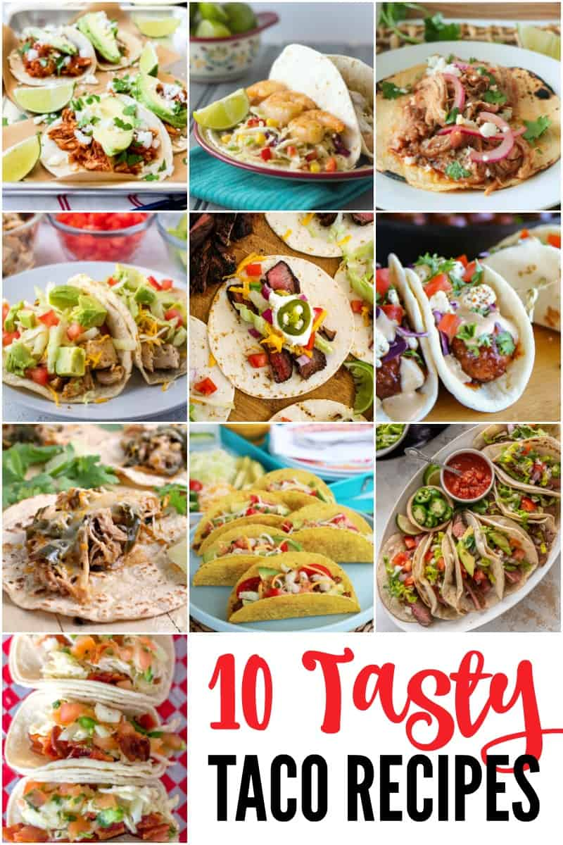 collage of 10 taco recipes