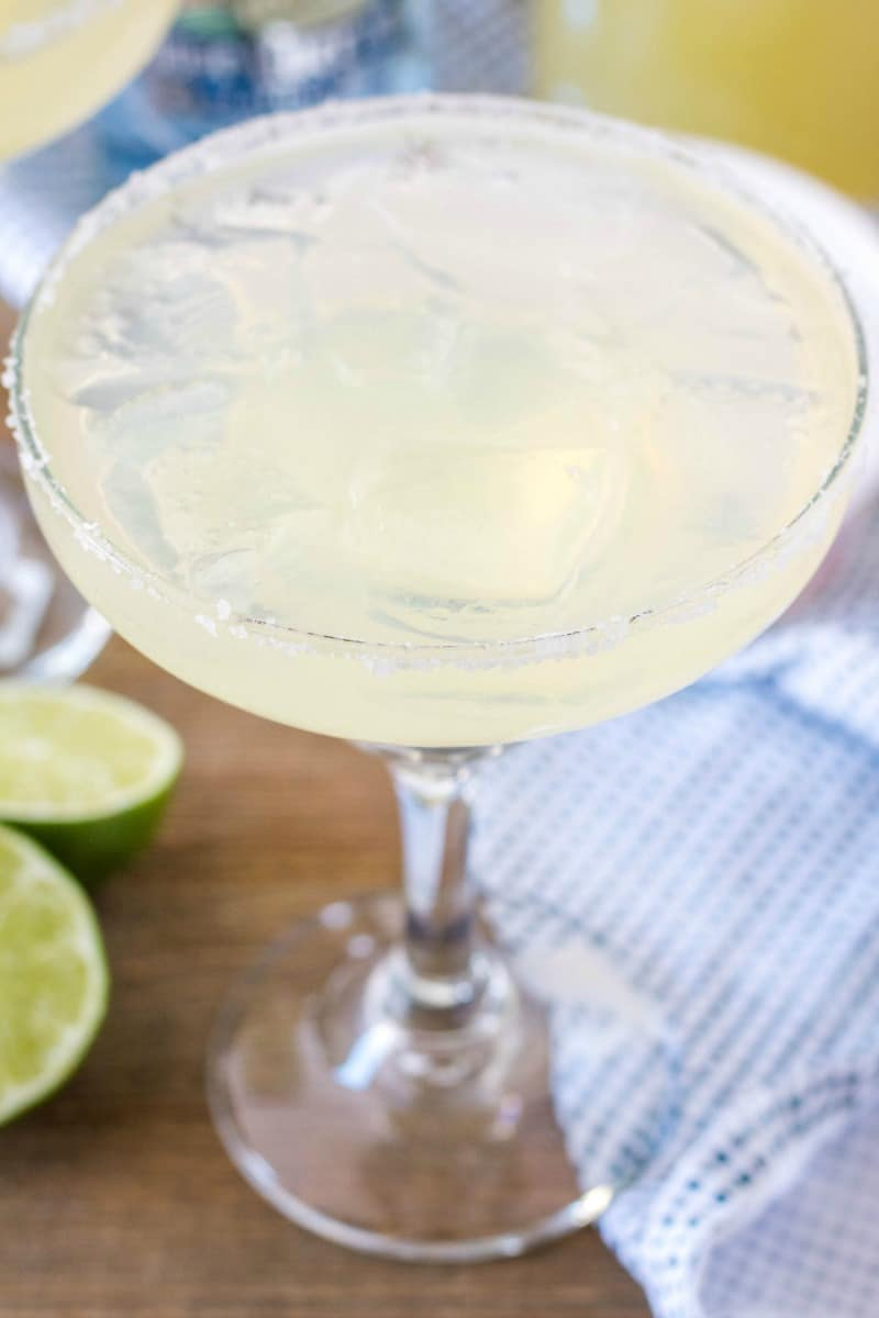close up of margarita on the rocks