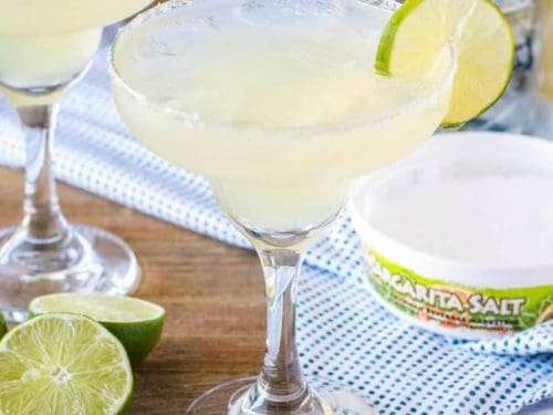 This simple, classic margarita recipe is the best margarita you'll ever taste! Your only 5 minutes away from cocktail bliss!