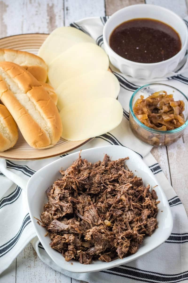 ingredients to make french dip sandwiches