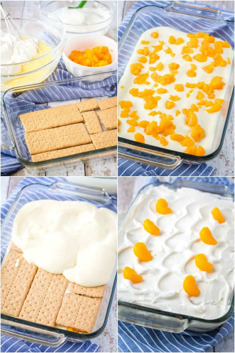 steps to make orange icebox cake