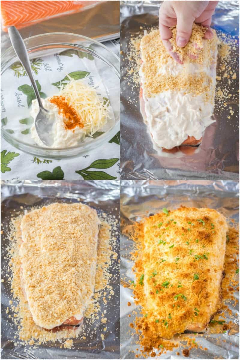 steps to make parmesan crusted salmon