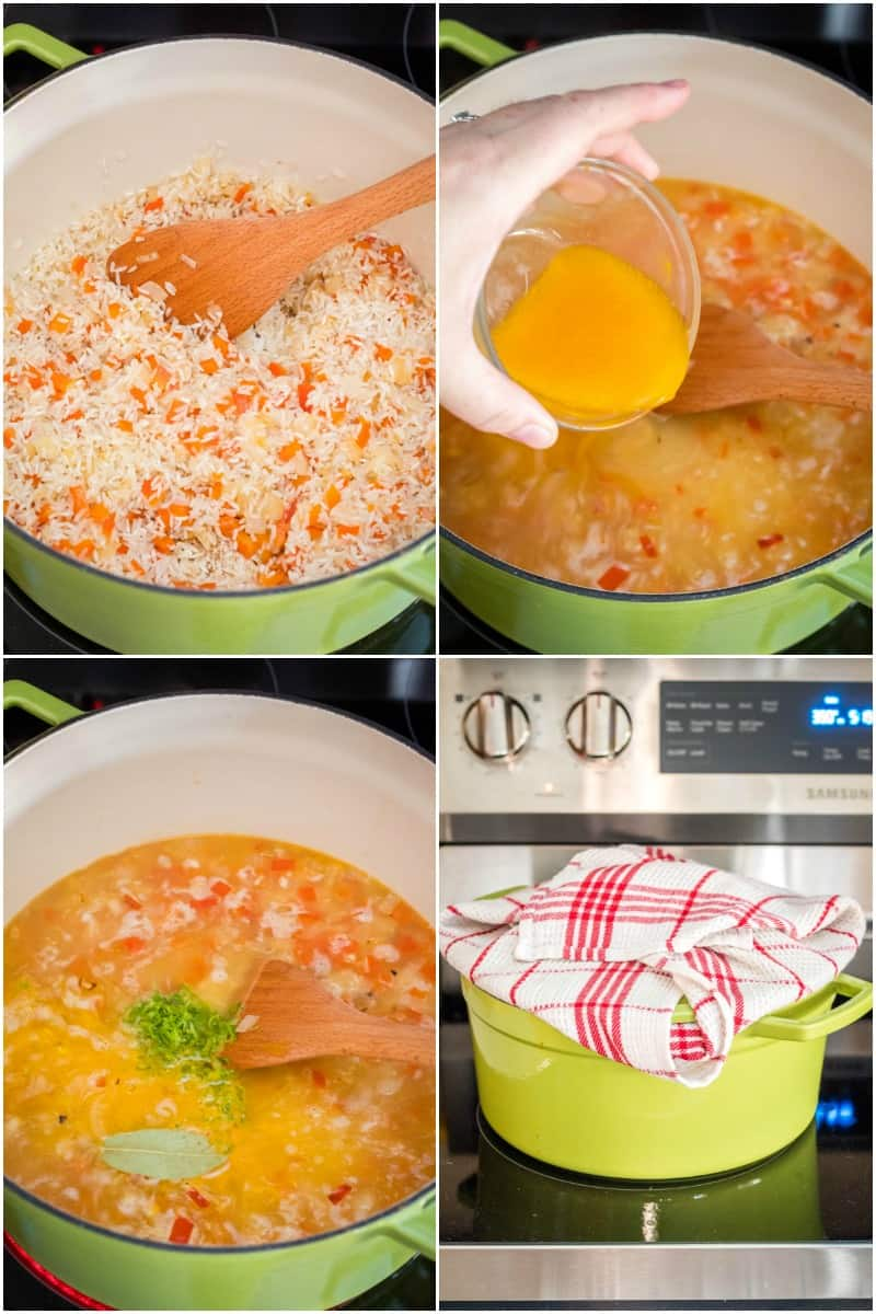 steps to make rice pilaf