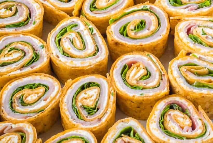 Get your party started with these tasty Ham and Cheese Roll Ups! Perfectly poppable for any occasion, but also great for an easy lunch idea!