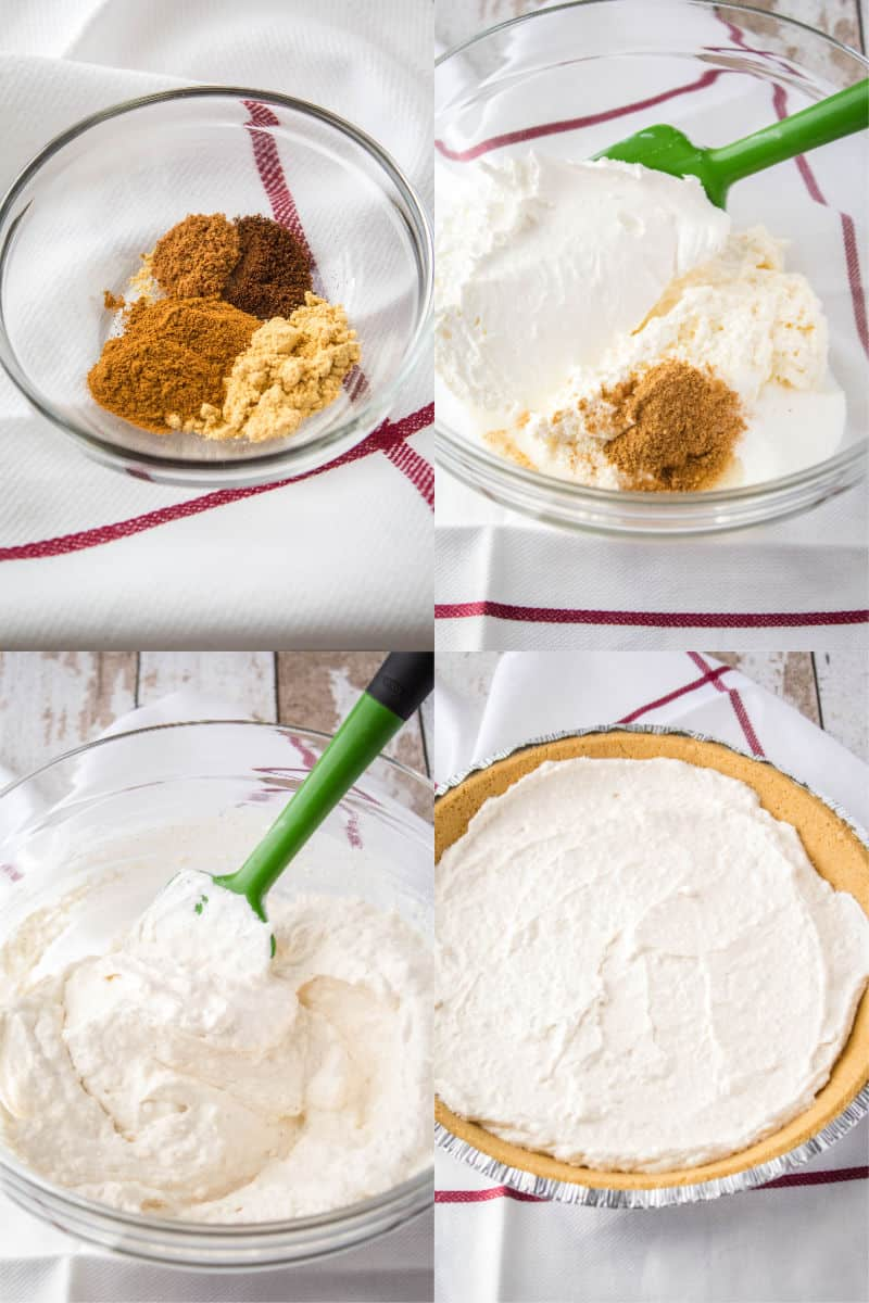 how to make cream cheese layer for pumpkin pie