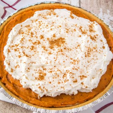 Cream Cheese Pumpkin Pie is a decadent no bake dessert that'll be the star of your holiday table! This 10-minute recipe is a fall dessert wonder that'll make your mouth water!