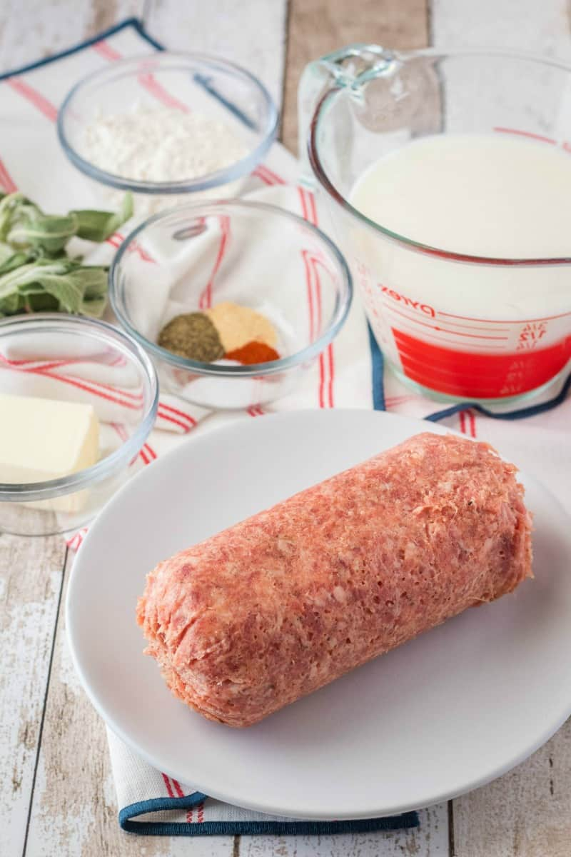 ingredients to make sausage gravy