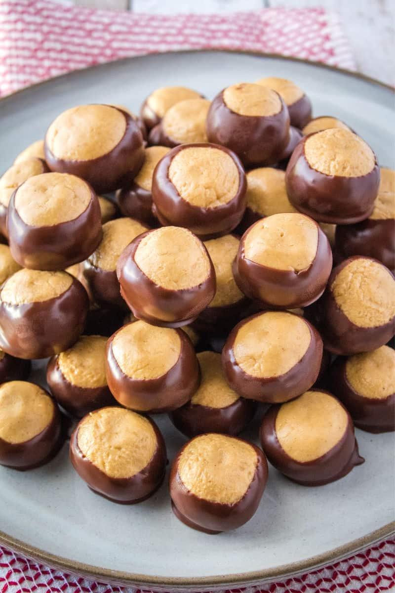 buckeye balls on a platter