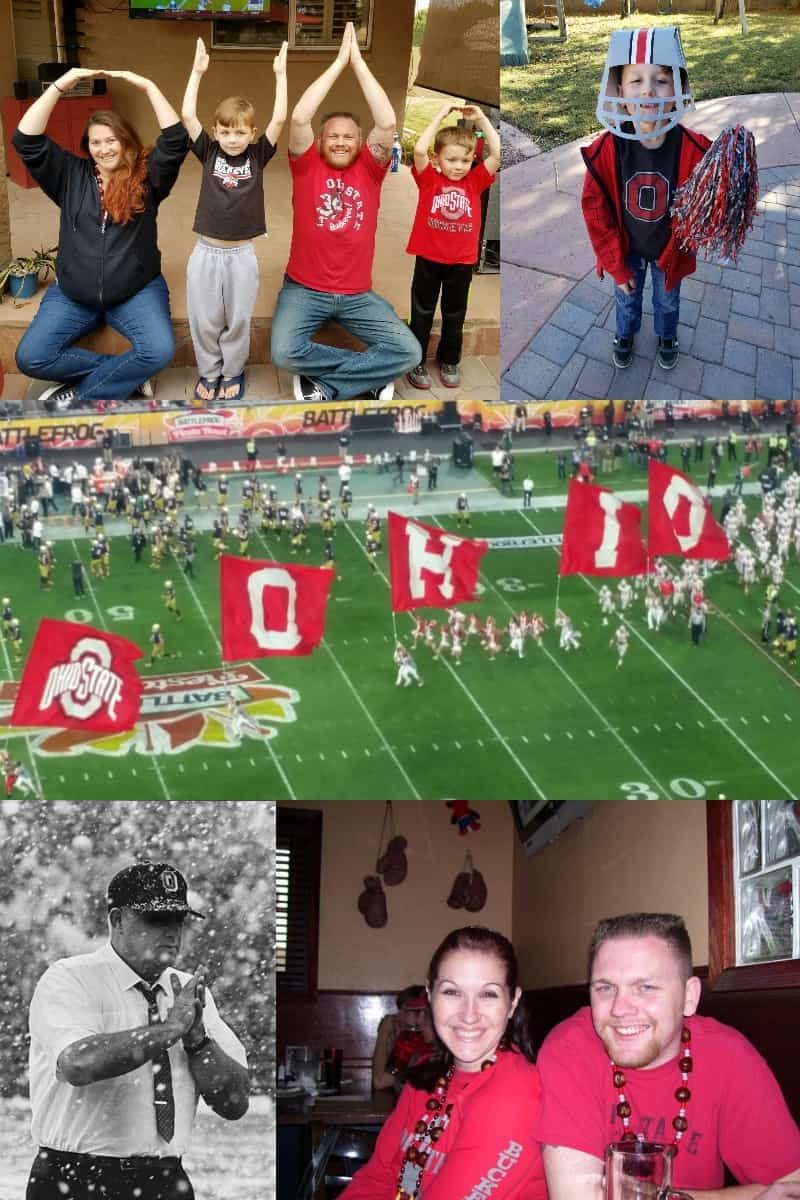 my family's love of The Ohio State Buckeyes