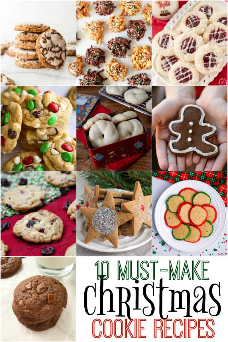 10 must-make Christmas cookie recipes COLLAGE