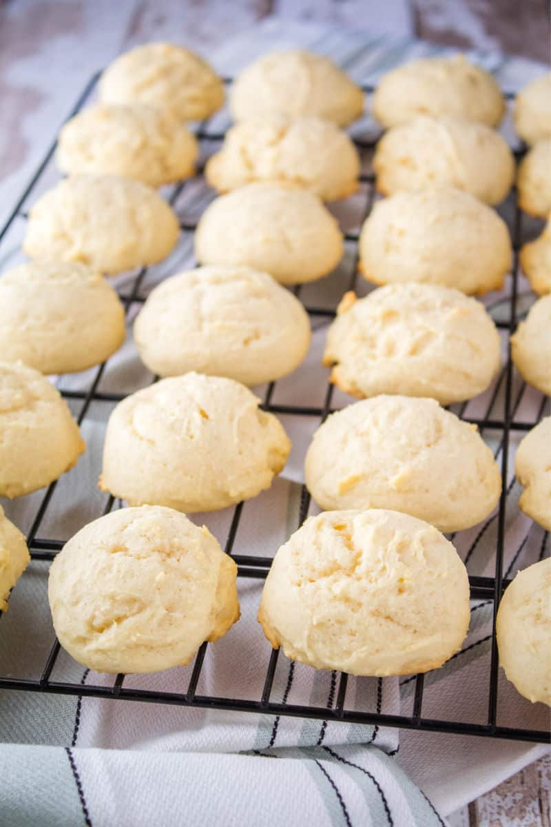 cookies on a wire rack after baking