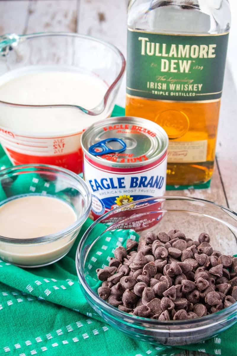 ingreidnets for fudge swirl irish cream ice cream